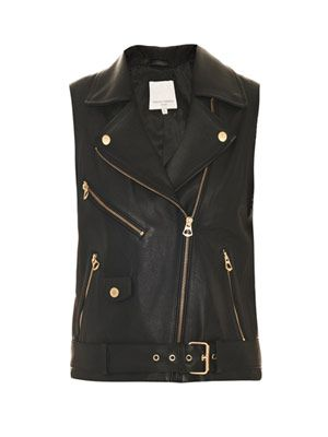 Sampson leather gilet