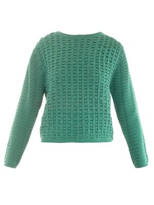 Smock-stitch sweater