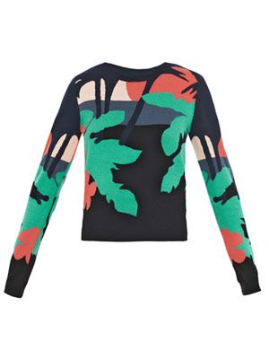 Tropical intarsia sweater