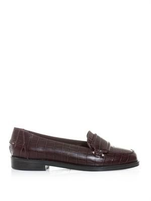 Luxor embossed leather penny loafers