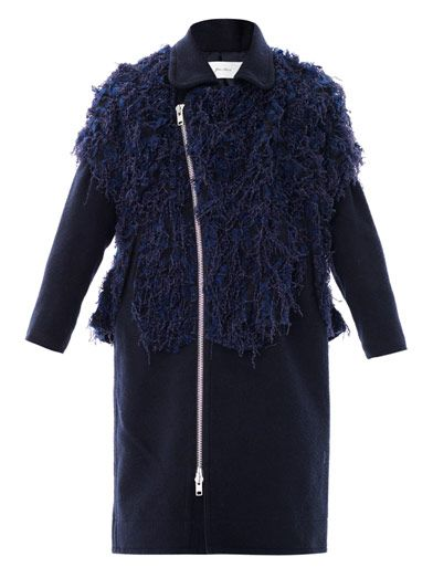 Julien David Fluffy boiled wool coat