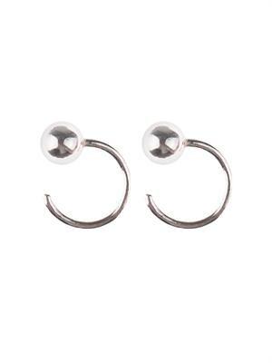 Sterling-silver small hoop earrings