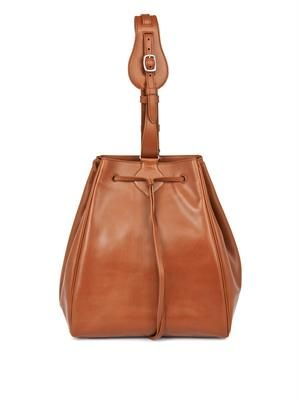 Dino leather bucket bag