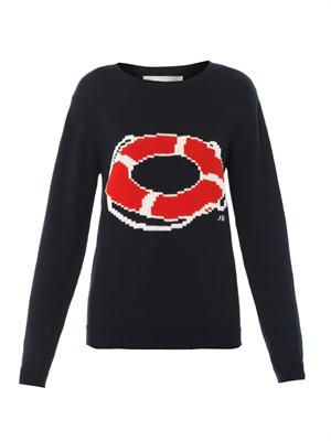 Life saver intarsia-knit sweater