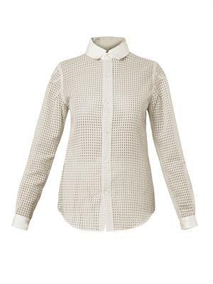 Translucent-gingham shirt