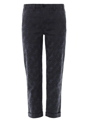 Julien David Jacquard cropped trousers