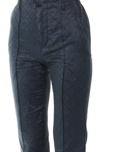 Julien David Iridescent jacquard slim-leg trousers
