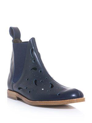 Paisley laser-cut Chelsea boots