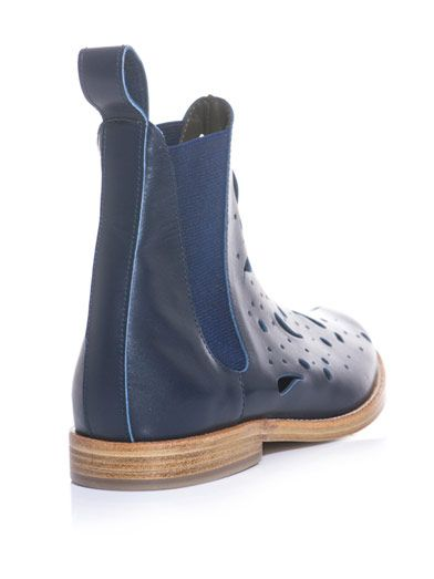 Julien David Paisley laser-cut Chelsea boots