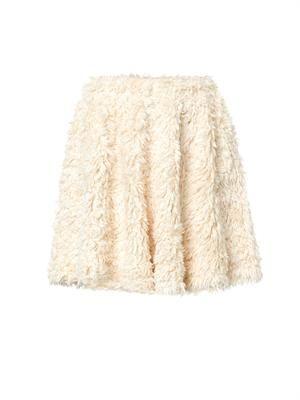 Teddy textured-cotton skirt