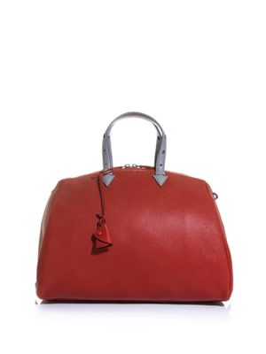 Joyce leather bowling bag
