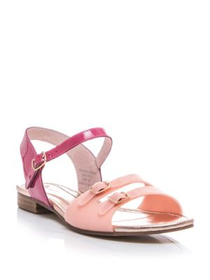 Seaside buckle flat sandals