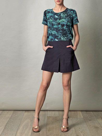 Lulu & Co Box pleat skirt