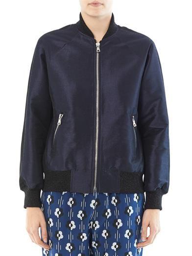 Lulu & Co Dupion bomber jacket