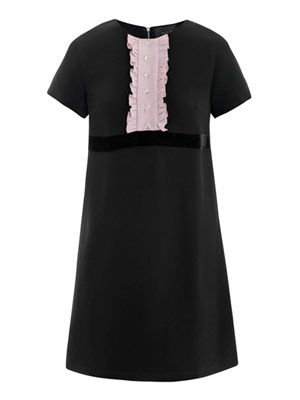 Contrast bib dress