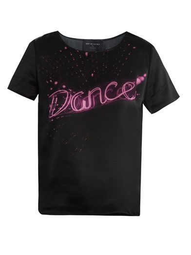 Lulu & Co Dance-print silk top