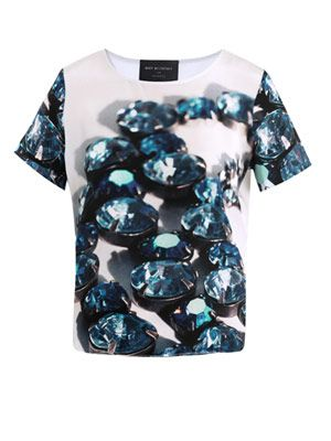 Necklace print top