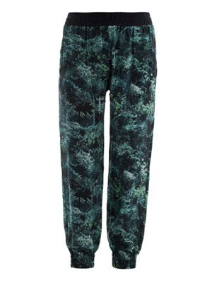 Palm print jogging trousers