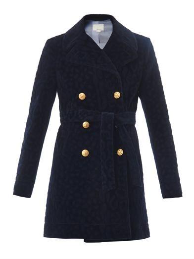 Band Of Outsiders Furry tonal-leopard pea coat