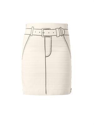 Trompe-l'oeil-print skirt