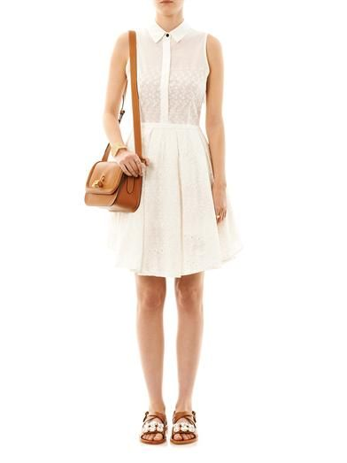 Band Of Outsiders Embroidered cotton dress