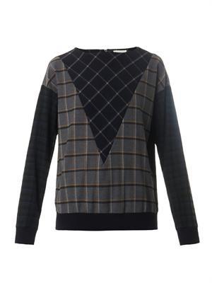 Hunter multi-plaid sweatshirt