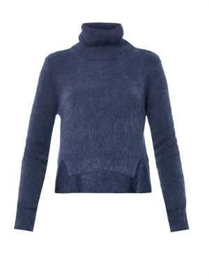 Roll-neck cropped sweater