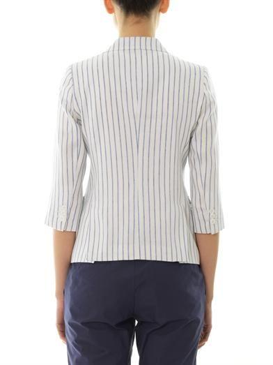 Band Of Outsiders Striped linen-blend blazer