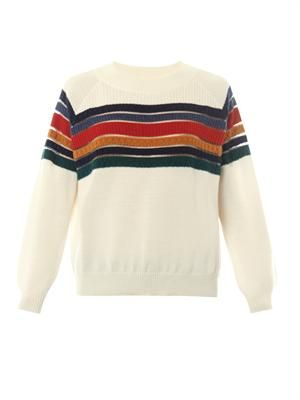 Rainbow merino-wool sweater