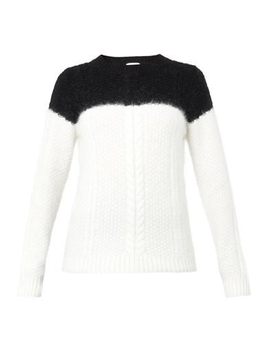 Band Of Outsiders Bi-colour cable-knit sweater