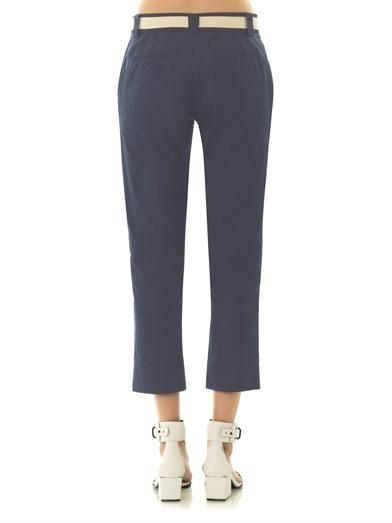 Band Of Outsiders Cropped cotton trousers