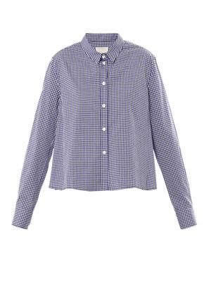 Cropped gingham shirt