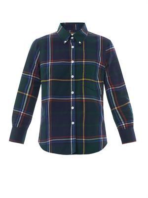 Plaid slim-fit shirt