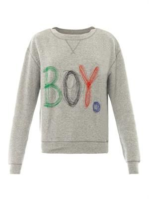 Scribble logo sweatshirt