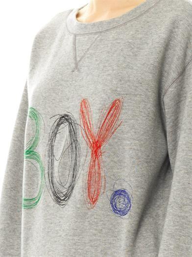 Band Of Outsiders Scribble logo sweatshirt