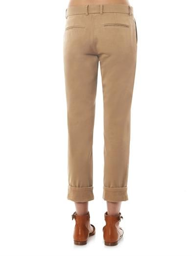Band Of Outsiders Flat-front cotton chinos