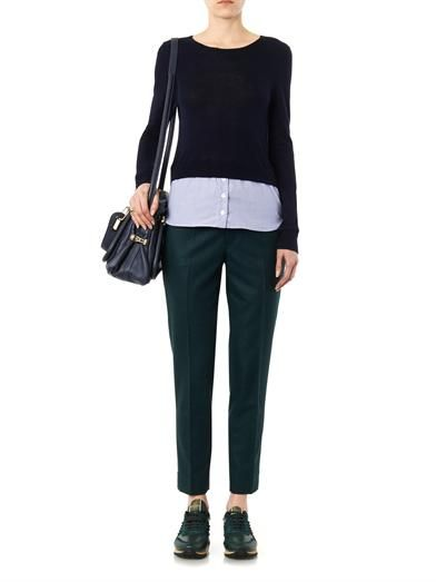 Band Of Outsiders Cropped wool trousers