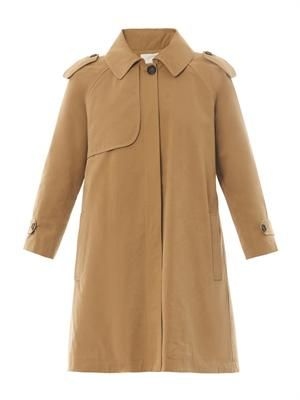 Blanket-lining trench coat