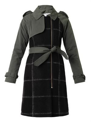 Multi-panel trench coat