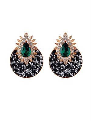 Luna crystal-embellished earrings