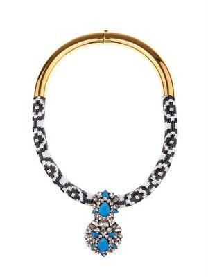 Zulu gold-plated Swarovski necklace