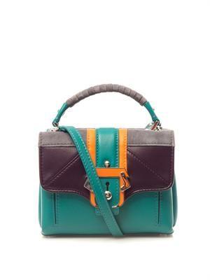 Dun Dun leather and suede bag