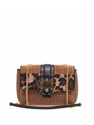 Carine natural straw shoulder bag