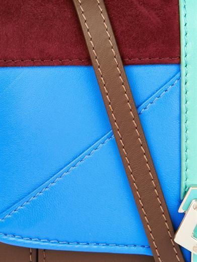 Paula Cademartori Petite Faye leather and suede bag