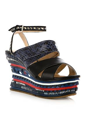 Jungle wedge sandals