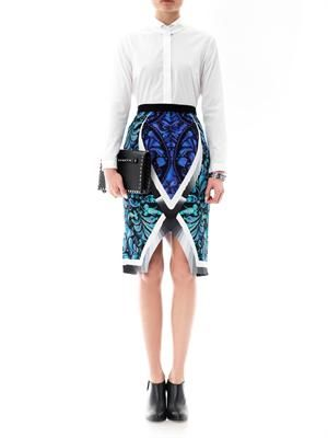 Arrow beam printed pencil skirt