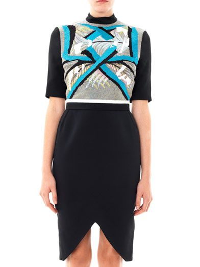 Peter Pilotto Ania embroidered panel dress