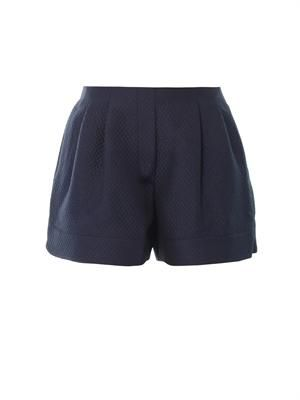 Textured-jacquard shorts