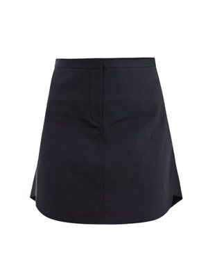 Bonded cotton flirt skirt