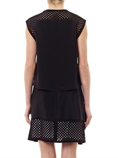 3.1 Phillip Lim Silk-crepe laser cut dress